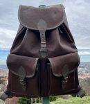 Szarvasbőr hátizsák, 2 zsebes