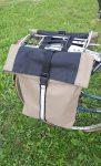 Dupla kerékpáros táska
