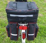 Dupla kerékpáros táska, merevített
