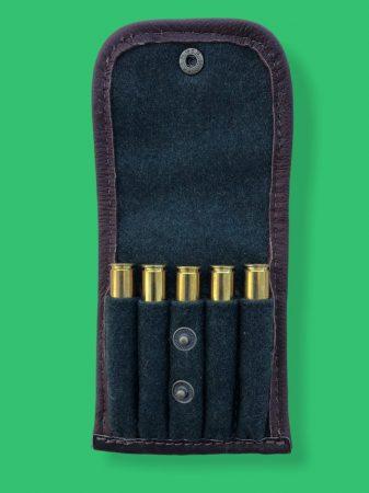 Lóden lőszertartó szarvasbőrrel kombinálva 5 db-os